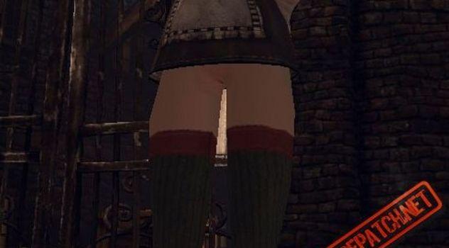 Alice 2 nude Realworld – Extreme mini skirt