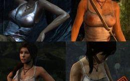 TR2013 Lara's nude skins – White Wet Shirt