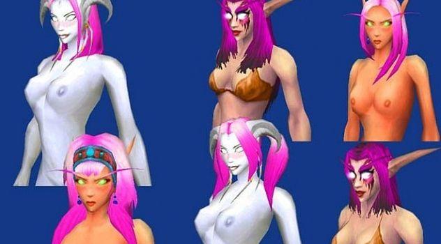 Pink hair wow skins