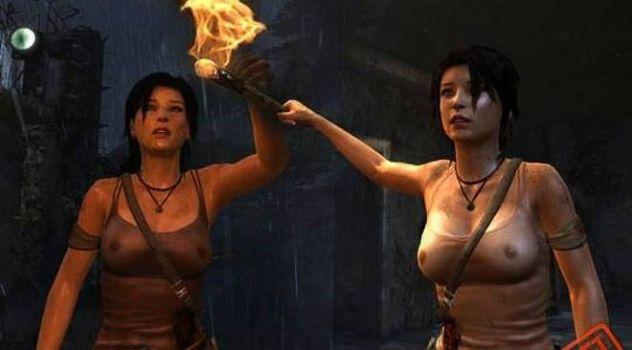 TR 2013 Sexy Lara's nude suit