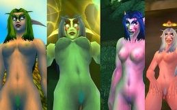 Night Elf Female Nude Skins