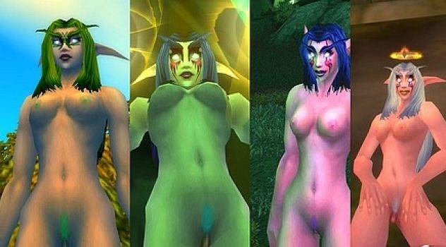 Night Elf Female Nude Skins