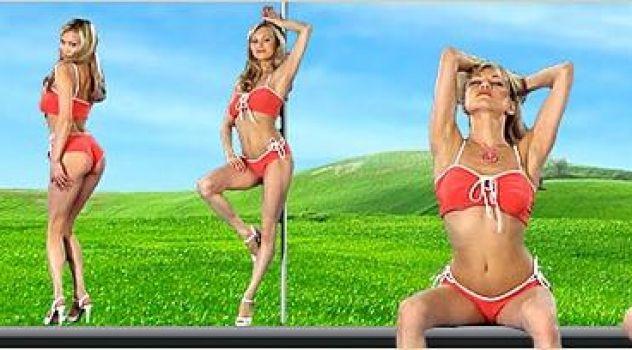 Virtual Girl Ellen, desktop: California forever..