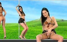 Virtual Girl Walleria, desktop: Santo domingo..