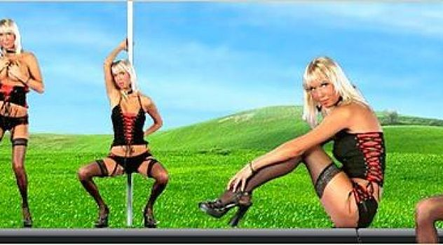 Natali Blond Lingerie, Stockings, High Heels..