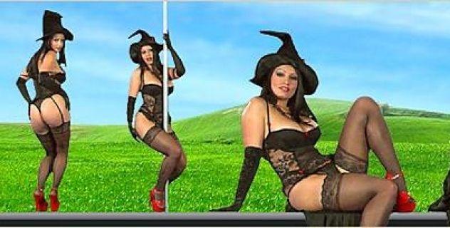 Aria Giovanni Stockings,  Big Boobs