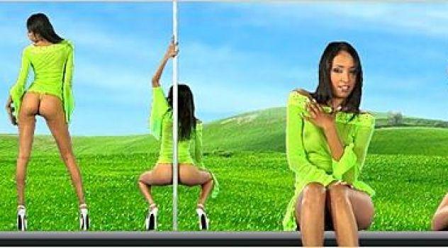 Virtual Girl Chems, desktop: Mint tea Stripper..