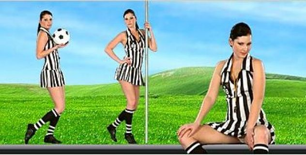 Virtual Girl Belicia, desktop: Goal !!! Stripper..